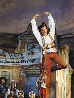 "Mikhail Baryshnikov in New York City Ballet production of ""Coppelia"", choreography by George Balanchine"