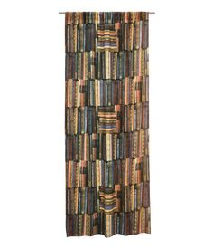 Antique book curtain panels, H&M.