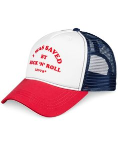 Levi s Men s Rock N Roll Colorblocked Graphic-Print Trucker Cap Hats For  Men fc029b5c11
