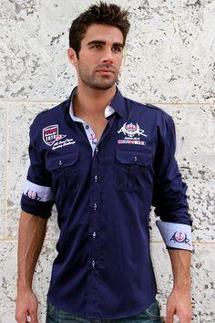 """Like"" this Absolute Rebellion men's shirt? Find it at www.FashionMenswear.com #mensshirt #menswear #mensfashion"