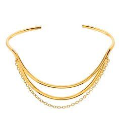 gorjana'Remy' Cuff (£62) ❤ liked on Polyvore featuring jewelry, bracelets, gold, 18k jewelry, 18 karat gold jewelry, cuff jewelry, gorjana and 18k bangle