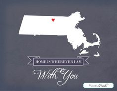 Home is Wherever I'm With You - 11 x 14 customizable print!