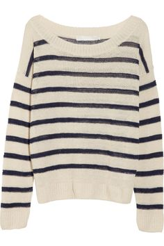 Billie striped linen-blend