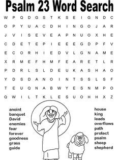 coloring pages psalm 23 google search - Childrens Activity Pages
