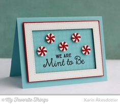 Candy Jar Companions, Candy Jars Die-namics, Houndstooth Background, Stitched Rectangle Frames Die-namics - Karin Åkesdotter #mftstamps