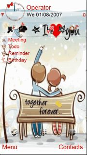 Download free Together Forever S60v5 Theme Mobile Theme Nokia mobile ...