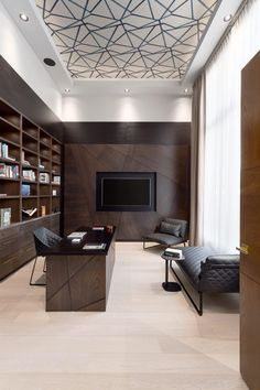 Interior Design Residential Portfolio by House of Bohn //good use of scale with … - commercial office interior o Modern Office Design, Office Furniture Design, Office Interior Design, Luxury Interior Design, Office Interiors, Modern Offices, Business Office Decor, Home Office Decor, Lobby Interior