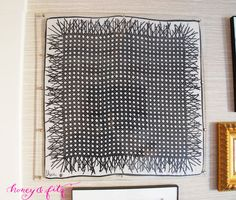 DIY Custom Lucite Frame with Hardware Store Supplies. How to hang scarves / scarf
