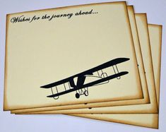 Wedding Guest Book Alternative Cards - Set of 50 - Vintage Travel Airplane Wedding Wishes by TheTrendySparrow, $18.00