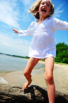 MySafeSkin, specialist in modieuze uv-beschermende kleding :: UV meisjes kleding :: Girls kaftan wit