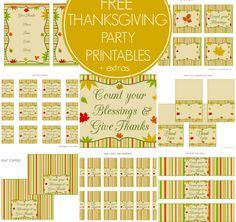 Free Thanksgiving Printables + Extras!