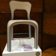 This #chair is made from recycled paper! @ecorglobal #ICFF #nycxdesign #nycxd #furniture #design
