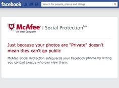 McAfee Social Protection – Proteja as suas fotos no Facebook