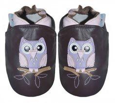 #skinntøfler #til #baby og #barn #tøfler #baby #leather #shoes #ugle #owl