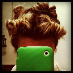 Going to sleep in a head full of twisted buns for BIG curls tomorrow. #hair by ...love Maegan, via Flickr