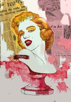 Marilyn Monroe Bust by PaintingJune on deviantART | This image first pinned to Marilyn Monroe Art board, here: http://pinterest.com/fairbanksgrafix/marilyn-monroe-art/ || #Art #MarilynMonroe