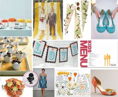 Aqua and Peach inspiration board that I used for my wedding!! Still love it!