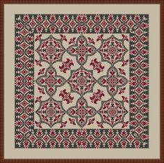 Cross Stitching, Cross Stitch Embroidery, Cross Stitch Patterns, Palestinian Embroidery, Cross Stitch Pillow, Chart Design, Square Patterns, Bargello, Blackwork