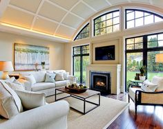 Living Room | Transitional Interior | Black Paint | Design Trend | Window Trim | Home Improvement