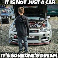 I wanted an old red mustang since I was 4 or I bought my mustang when I was I was at the parts store every payday and in the shop with my dad e. Car Guy Memes, Car Jokes, Funny Car Memes, Car Humor, Car Guy Quotes, Tuner Cars, Jdm Cars, Cl 500, Ferrari