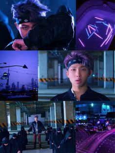 rap monster with purple hair is perfect