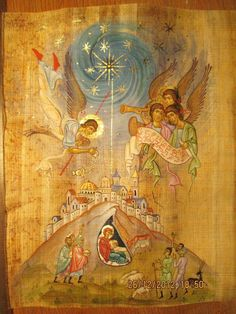 This caught my eye because it's a more detailed nativity scene that the traditional - Mary, Joseph and baby Jesus. Religious Images, Religious Icons, Religious Art, Byzantine Icons, Byzantine Art, Russian Icons, Religious Paintings, Catholic Art, Orthodox Icons
