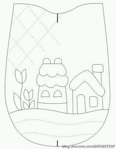 Embroidery patches tutorial quilt blocks 58 ideas for 2019 Applique Templates, Applique Patterns, Applique Quilts, Wool Applique, Japanese Patchwork, Patchwork Bags, Quilted Bag, House Quilt Patterns, House Quilts