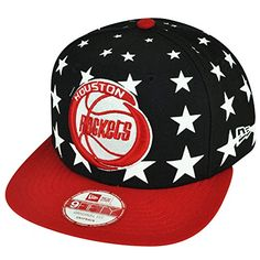 NBA New Era 950 9fifty Houston Rockets Starry Night Stars Black Red Snapback  Cap -- f6e73f97d8d