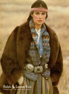 Ralph Lauren Furs campaign 1981. 23 Iconic Moments From Ralph Lauren on Yahoo Style