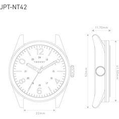 Tsovet JPT-NT42 Japan Quartz Black & Matte Black Watch | Black Rubber
