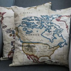 Vintage looking antique maps prints cotton canvas pillow case vintage looking antique maps prints cotton canvas pillow case cushion cover cushion covers pinterest antique maps cotton canvas and printed cotton gumiabroncs Gallery