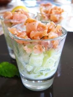 Learn to how to make Apple and salmon verrine recipe:Learn to how to cook easy Apple & Salmon Verrine — Eat Well 101