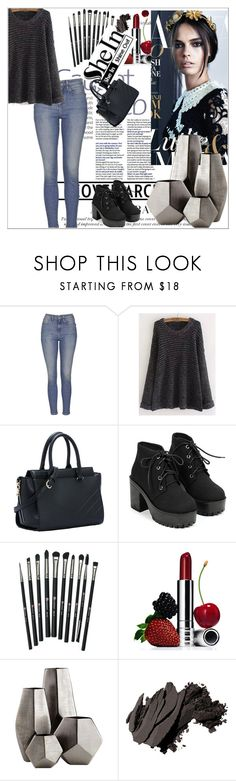 """""""sheln contest"""" by merymery6543 ❤ liked on Polyvore featuring Topshop, Revolution, Clinique, Cyan Design and Bobbi Brown Cosmetics"""