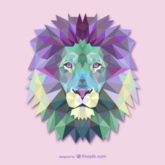 Colorful Lion Acrylic Wall Art - animal gift ideas animals and pets diy customize Art And Illustration, Animal Illustrations, Lion Origami, Geometric Lion, Geometric Tattoos, Geometric Pillow, Lion Art, Acrylic Wall Art, Lion Tattoo
