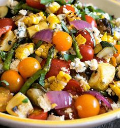 This Grilled Summer Vegetable Salad recipe is light and refreshing dressing to complement the smoky flavors of the grilled vegetables. Enjoy!