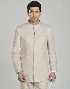 Linen Chinese Collar Jacket