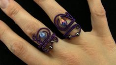 Tutorial: Mystical Sorceress Wire Wrapped Ring Black/Purple Adjustable