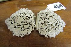 Silver Belt Buckle with Filigree Decoration