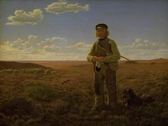 Frederik Vermehren (1823-1910), A Jutland Shepherd on the Moors, 1855.