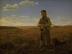 """Frederik Vermehren (1823-1910), """"En jysk fårehyrde på heden"""", 1855.  Statens Museum for Kunst / National Gallery of Denmark. http://www.smk.dk/index.php?id=1194"""