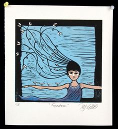 Buy Freedom, linocut reduction, Linocut by Mariann Johansen-Ellis on Artfinder. Discover thousands of other original paintings, prints, sculptures and photography from independent artists.