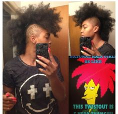 Is @maichickbad telling the truth? #naturalhair #teamnatural #sideshowbob #naturallyluvly #funny
