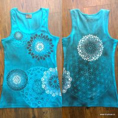 Double mandalas T-shirts by Monika Brydova