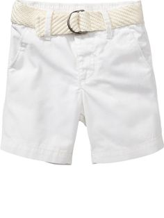 Belted Twill Shorts for Baby Product Image