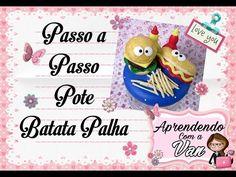 (DIY) PASSO A PASSO POTE BATATA PALHA - YouTube