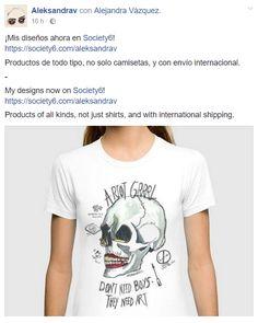 https://society6.com/aleksandrav  by @alejandravvss  #aleksandrav #tshirt #shirt #skull #art #watercolor #sex #smoke #riot #girl #riotgrrrl #makeup #eyeliner #rimmel #society6 #boys