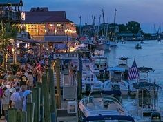 Just over the Ravenel Bridge, Shem Creek in Mount Pleasant is a fantastic spot to grab seafood or a drink while you watch kayakers and shrimp boats come in from the Charleston Harbor.