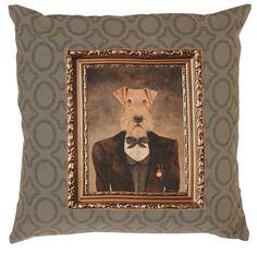 Wunderschöner Kissenbezug  Clayre & Eef | Aerdale Terrier - Kissenhülle, Kissenbezug nur 14,95€  Http://shop.thenailcorner.de  #Hunde #freunde #vintage