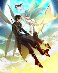 Sword Art Online, Asuna + Kirito, by Tamotsu Tuft #Kirisuna