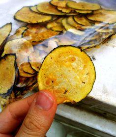 Raw Zucchini Chips via Eat Green Cake | http://eatgreencake.wordpress.com/2013/06/04/raw-zucchini-chips/